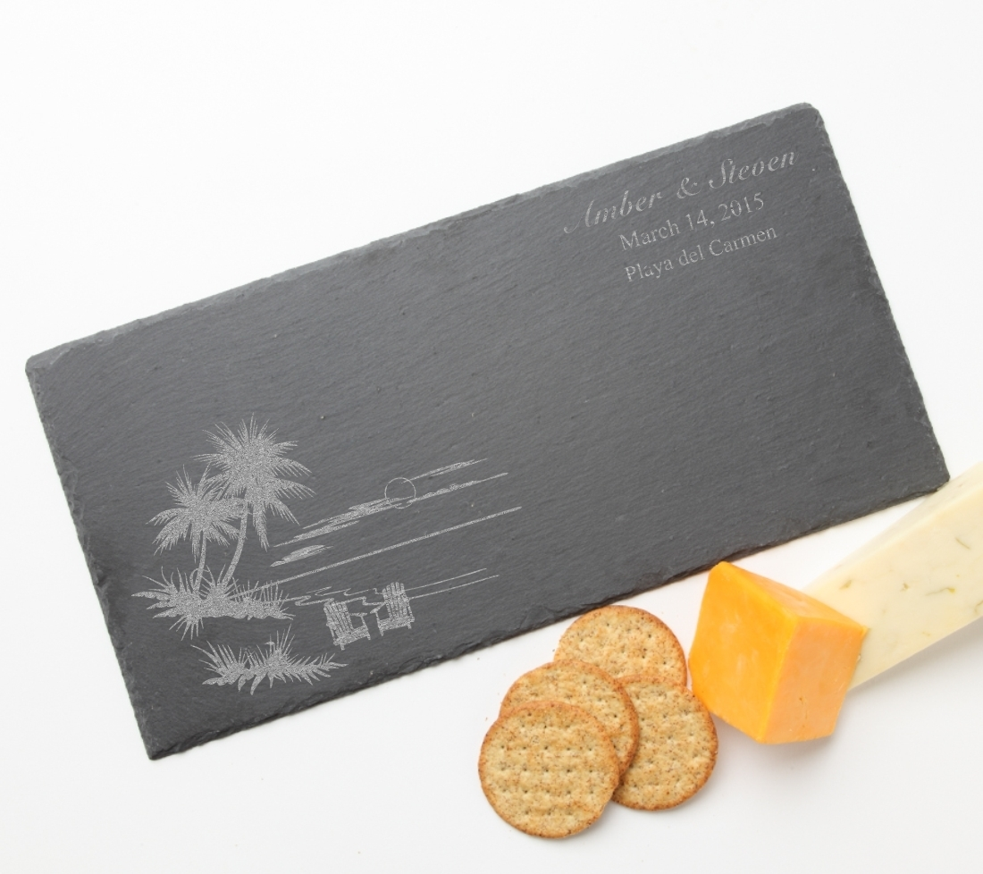 Personalized Slate Cheese Board 15 x 7 DESIGN 33 SCB-033