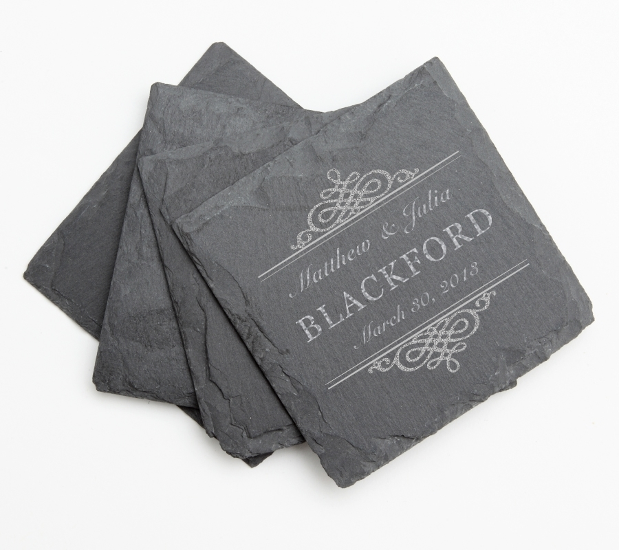 Personalized Slate Coasters Engraved Slate Coaster Set DESIGN 14 SCS-014