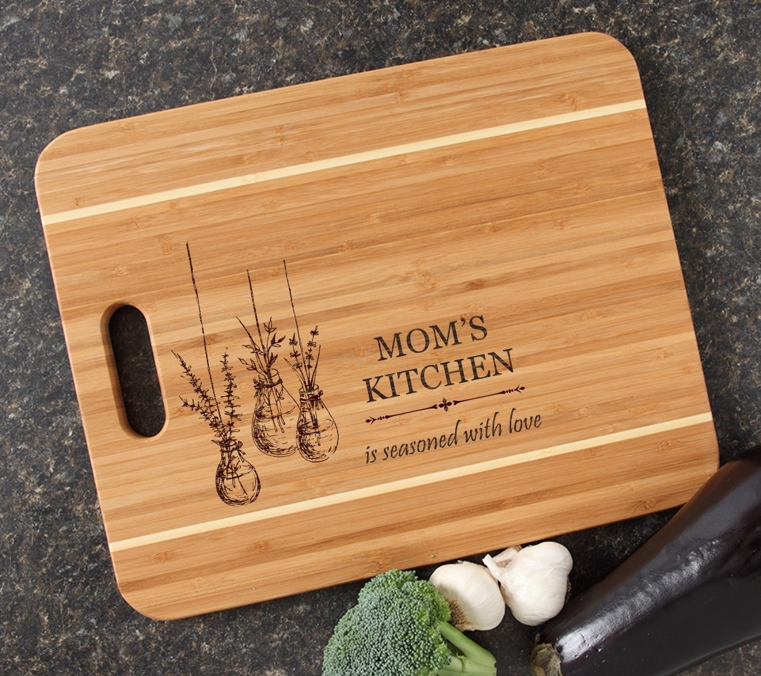 Personalized Cutting Board Engraved 15x12 Handle DESIGN 37 CBA-037