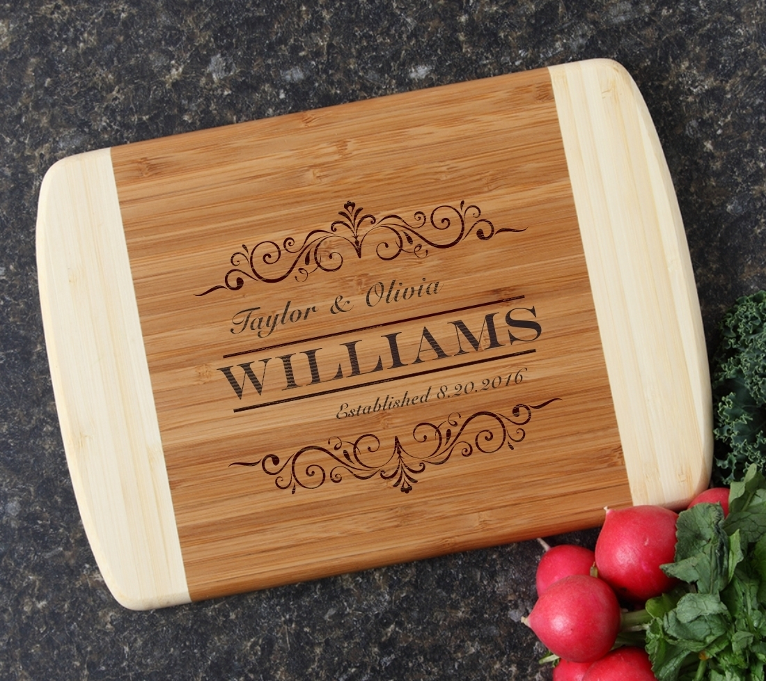 Personalized Cutting Board Custom Engraved 10 x 7 DESIGN 34 CBG-034