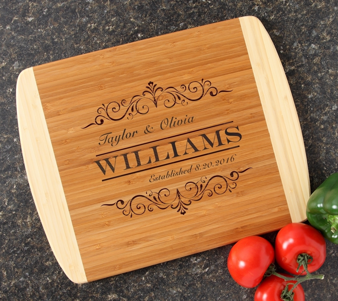 Personalized Cutting Board Custom Engraved 14x11 DESIGN 34 CBC-034