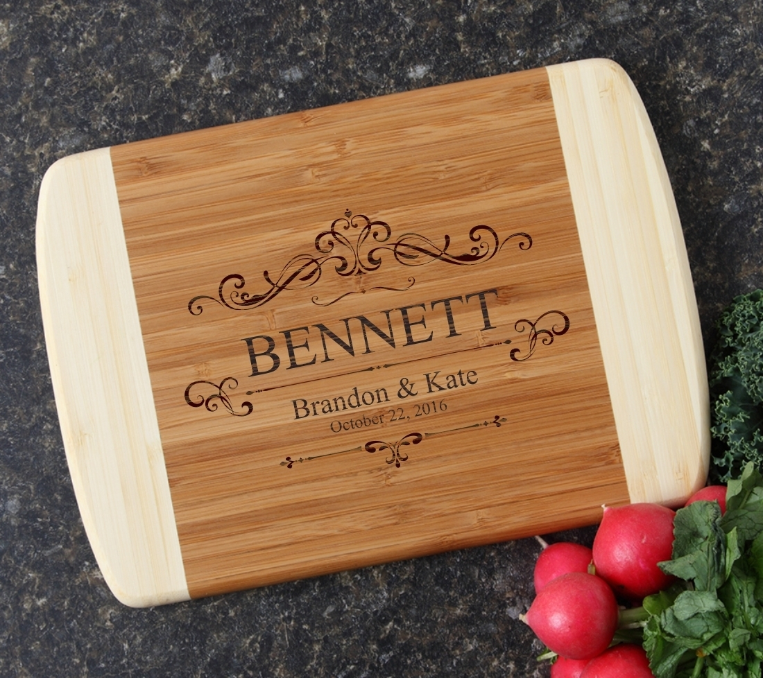 Personalized Cutting Board Custom Engraved 10 x 7 DESIGN 35 CBG-035