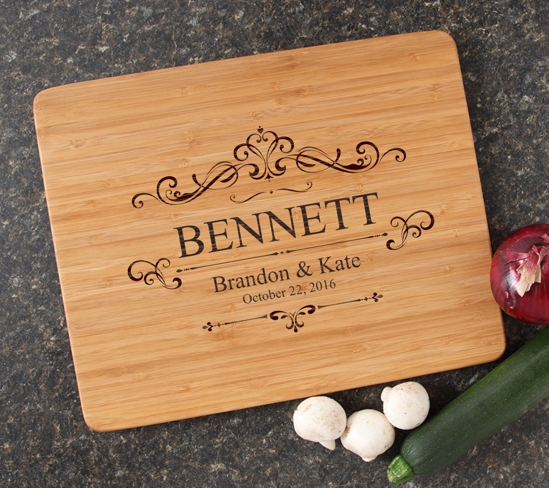 Engraved Bamboo Cutting Board Personalized 15x12 DESIGN 35 CBB-035