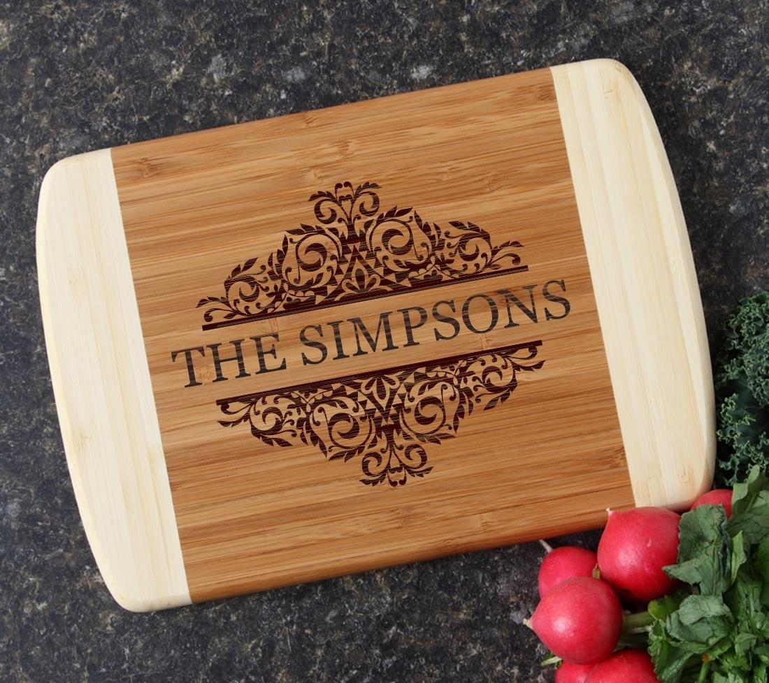 Personalized Cutting Board Custom Engraved 10 x 7 DESIGN 39 CBG-039