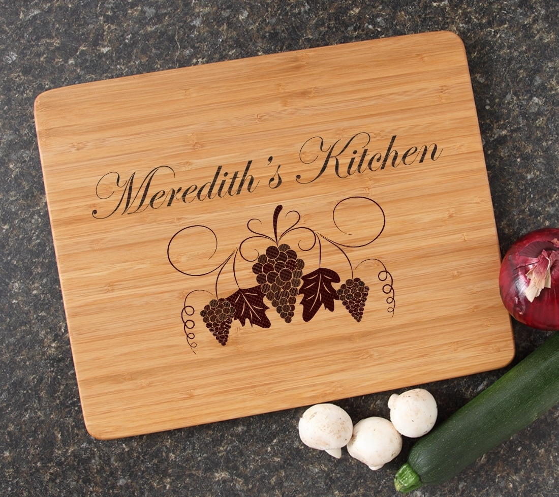 Engraved Bamboo Cutting Board Personalized 15x12 DESIGN 40 CBB-040