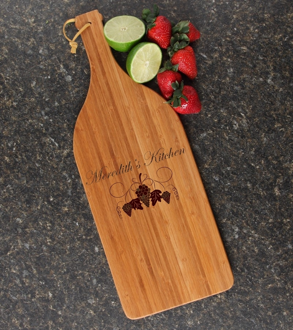 Personalized Cutting Board Engraved Bamboo 16 x 5 DESIGN 40 CBD-040