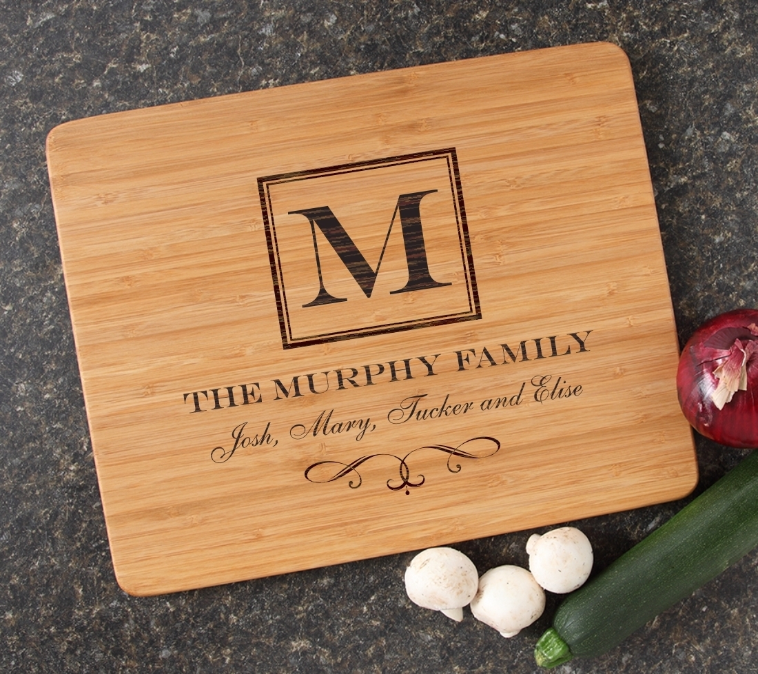 Engraved Bamboo Cutting Board Personalized 15x12 DESIGN 41 CBB-041