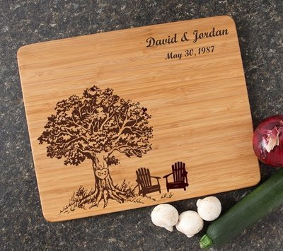 Engraved Bamboo Cutting Board Personalized 15x12 DESIGN 31