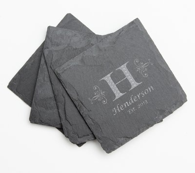 Personalized Slate Coasters Engraved Slate Coaster Set DESIGN 2