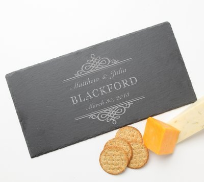 Personalized Slate Cheese Board 15 x 7 DESIGN 14