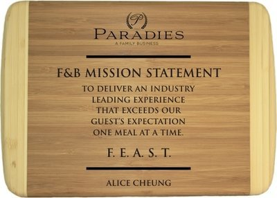 Personalized, Custom Engraved 10 x 7 Bamboo Cutting Boards 6 Paradies