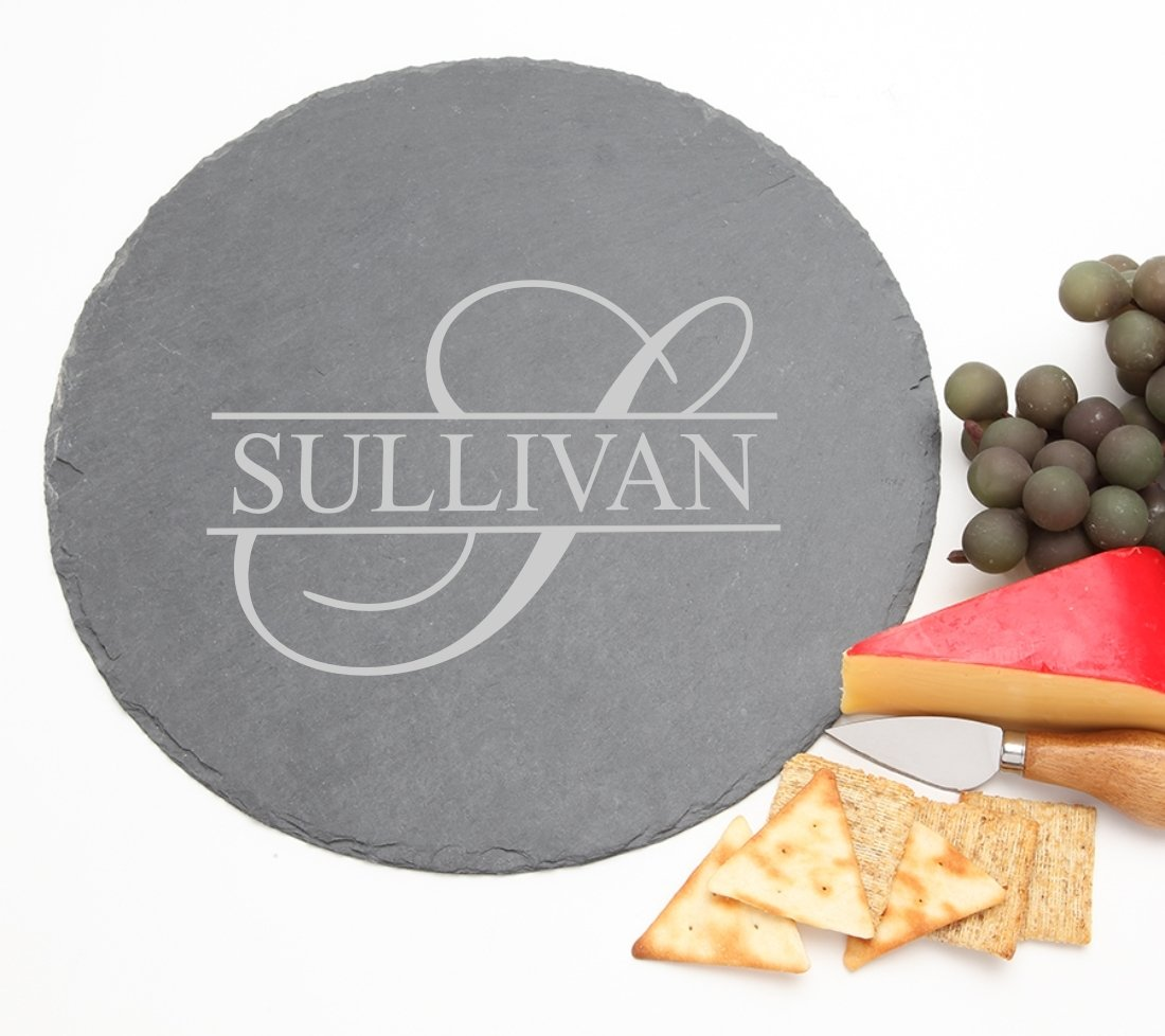 Personalized Slate Cheese Board Round 12 x 12 DESIGN 25 SCBR-025