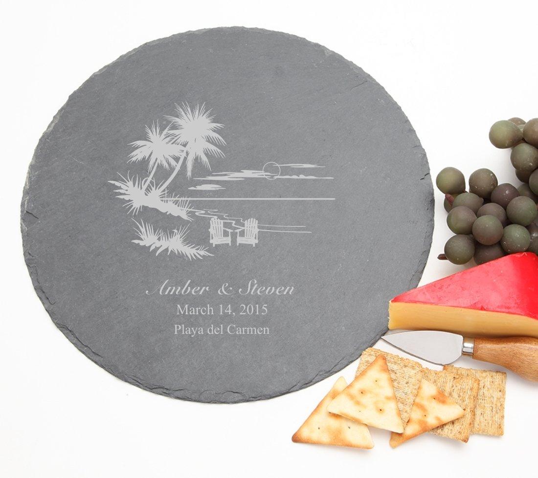 Personalized Slate Cheese Board Round 12 x 12 DESIGN 33 SCBR-033
