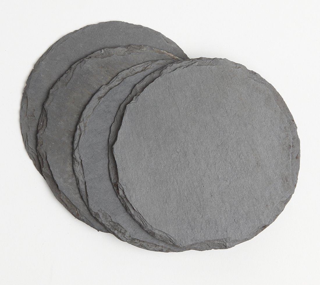Personalized Slate Coasters Round Engraved Slate Coaster Set