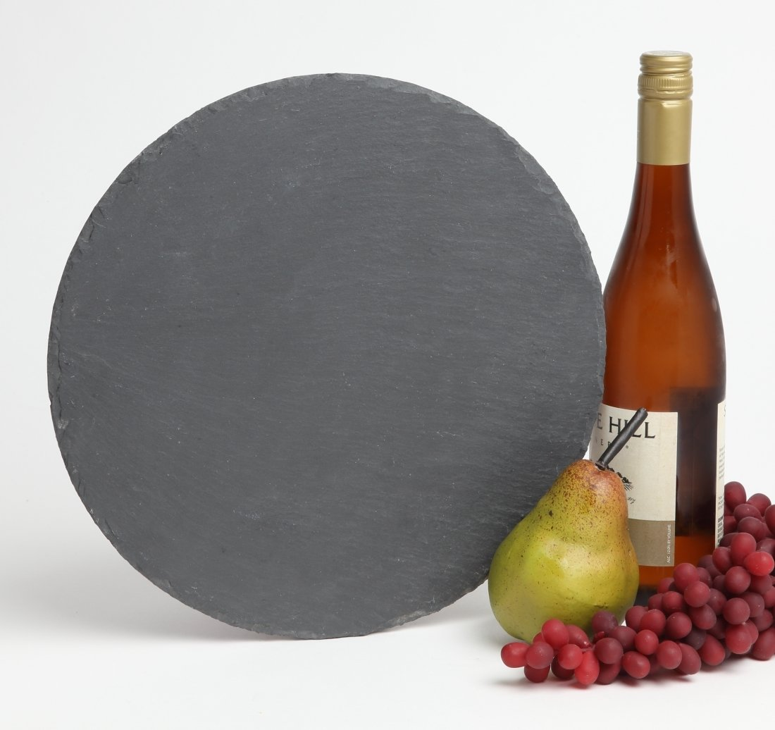 Personalized Slate Cheese Board Round 12 x 12 DESIGN 4