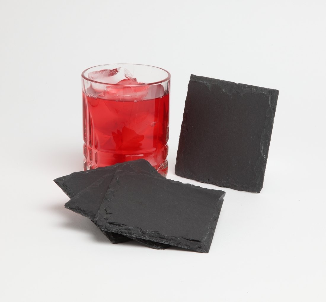 Personalized Slate Coasters Custom Engraved Slate Coaster Set 4 x 4