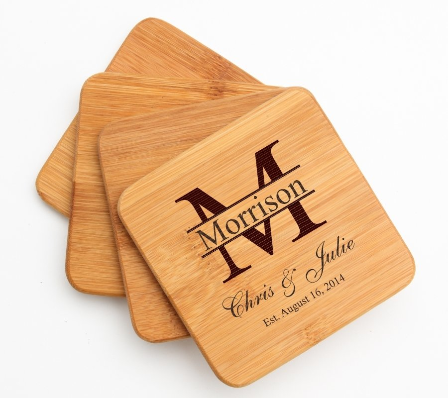 Personalized Bamboo Cutting Board Engraved 12 x 8 DESIGN 24