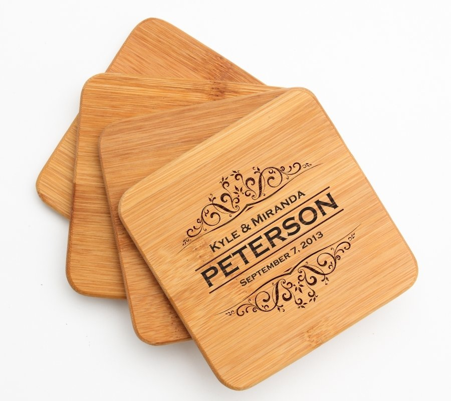 Cutting Board Engraved Personalized Bamboo 12 x 9 DESIGN 7