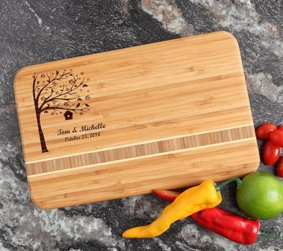 Personalized Bamboo Cutting Board Engraved 12 x 8 DESIGN 27