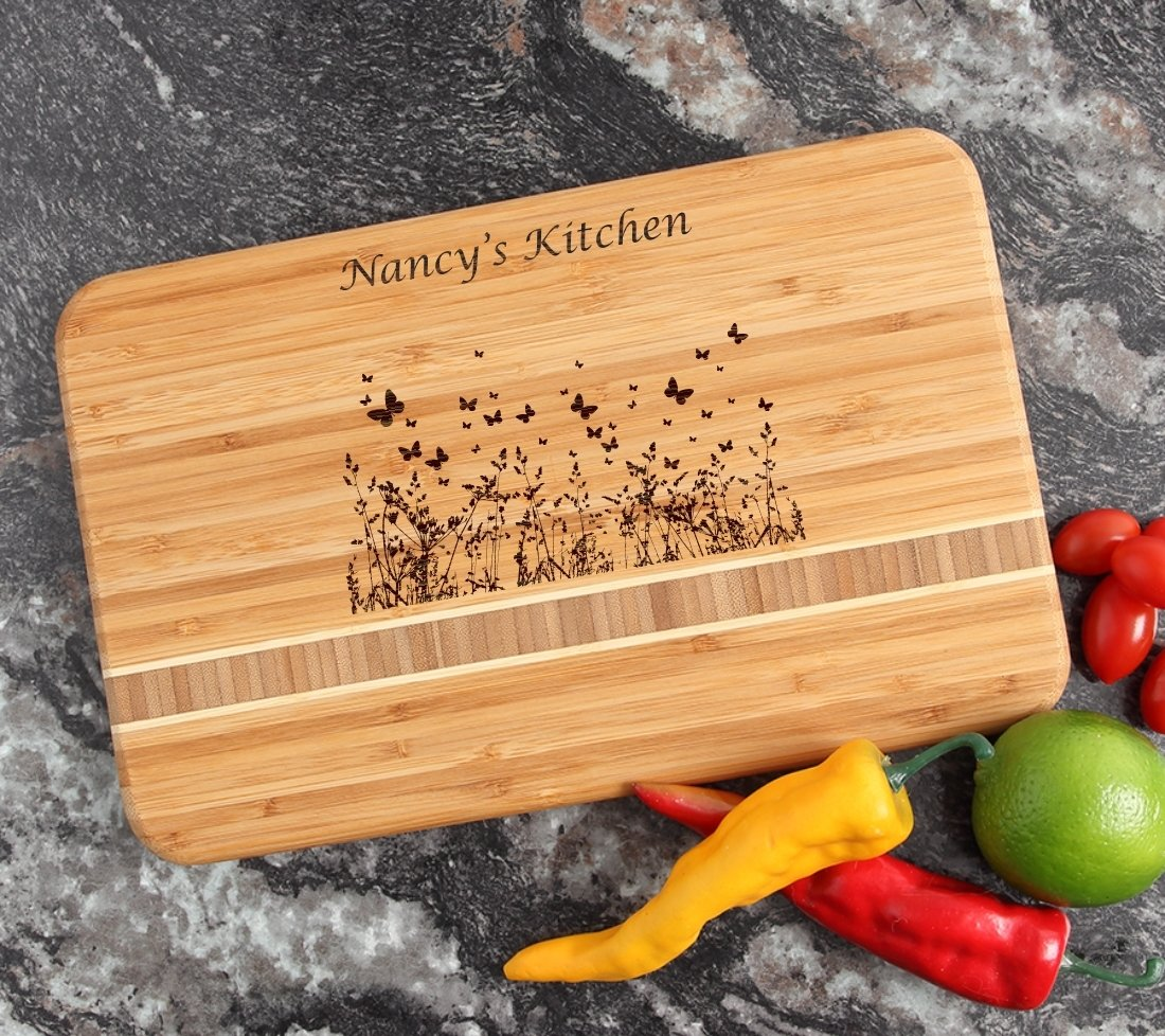 Personalized Bamboo Cutting Board Engraved 12 x 8 DESIGN 30 CBE-030