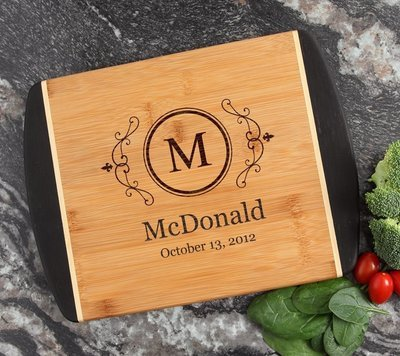 Cutting Board Engraved Personalized Bamboo 12 x 9 DESIGN 10