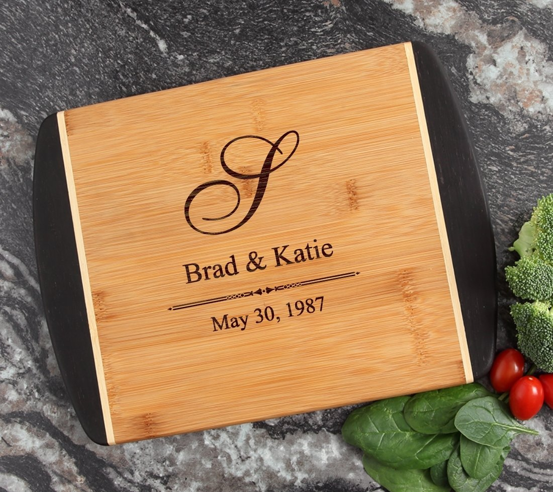 Cutting Board Engraved Personalized Bamboo 12 x 9 DESIGN 11 CBI-011