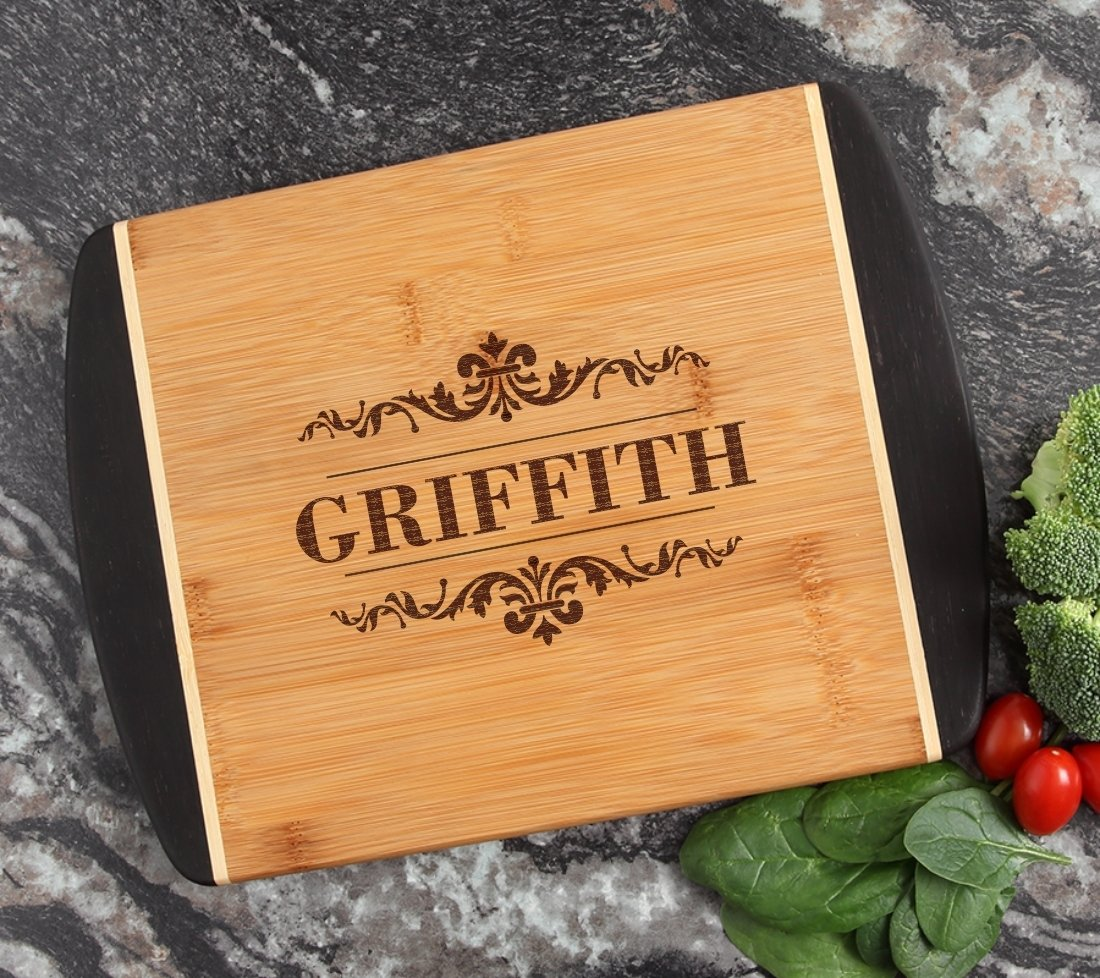 Cutting Board Engraved Personalized Bamboo 12 x 9 DESIGN 16 CBI-016