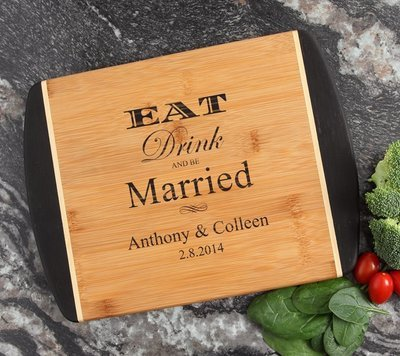 Cutting Board Engraved Personalized Bamboo 12 x 9 DESIGN 17