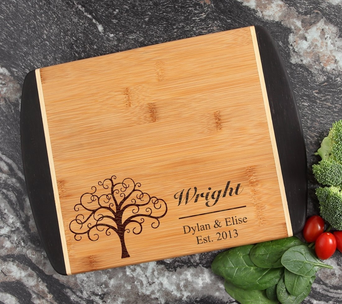 Cutting Board Engraved Personalized Bamboo 12 x 9 DESIGN 18 CBI-018