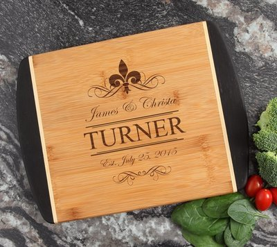 Cutting Board Engraved Personalized Bamboo 12 x 9 DESIGN 20