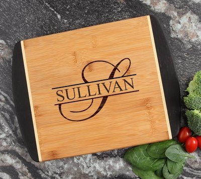 Cutting Board Engraved Personalized Bamboo 12 x 9 DESIGN 25