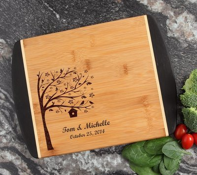 Cutting Board Engraved Personalized Bamboo 12 x 9 DESIGN 27