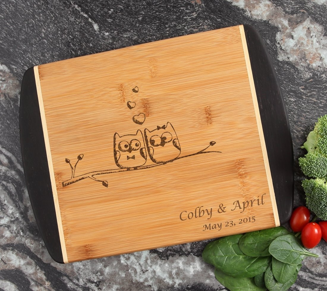 Cutting Board Engraved Personalized Bamboo 12 x 9 DESIGN 29 CBI-029