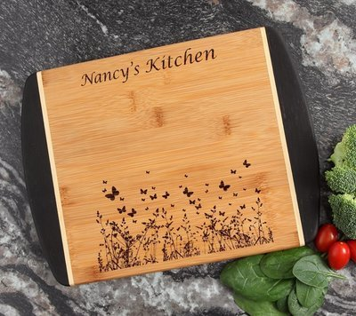 Cutting Board Engraved Personalized Bamboo 12 x 9 DESIGN 30