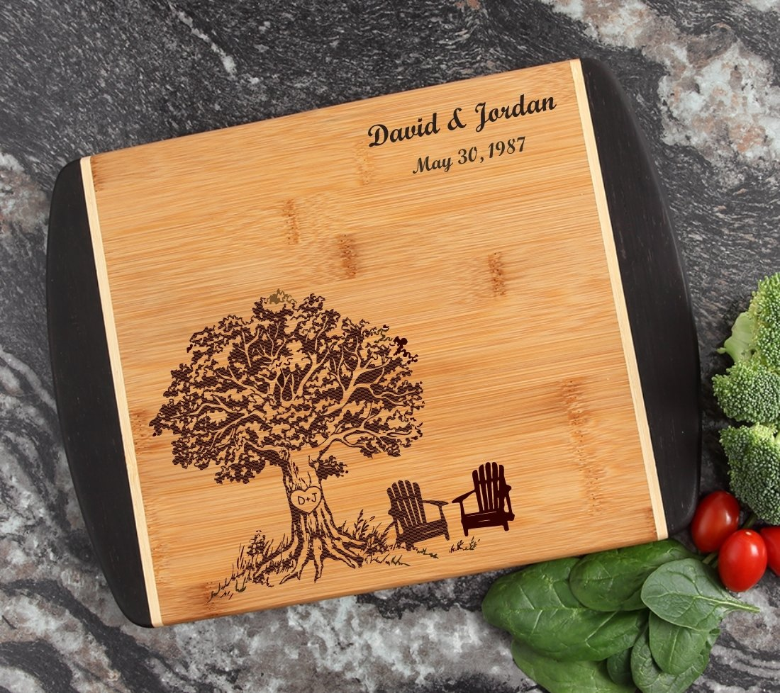 Cutting Board Engraved Personalized Bamboo 12 x 9 DESIGN 31 CBI-031