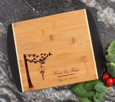 Cutting Board Engraved Personalized Bamboo 12 x 9 DESIGN 32