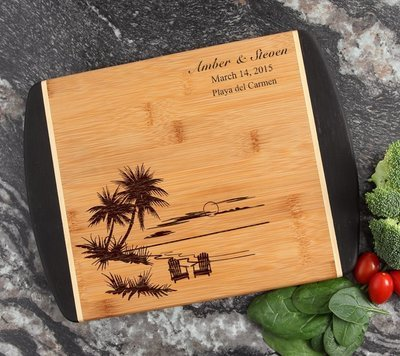 Cutting Board Engraved Personalized Bamboo 12 x 9 DESIGN 33