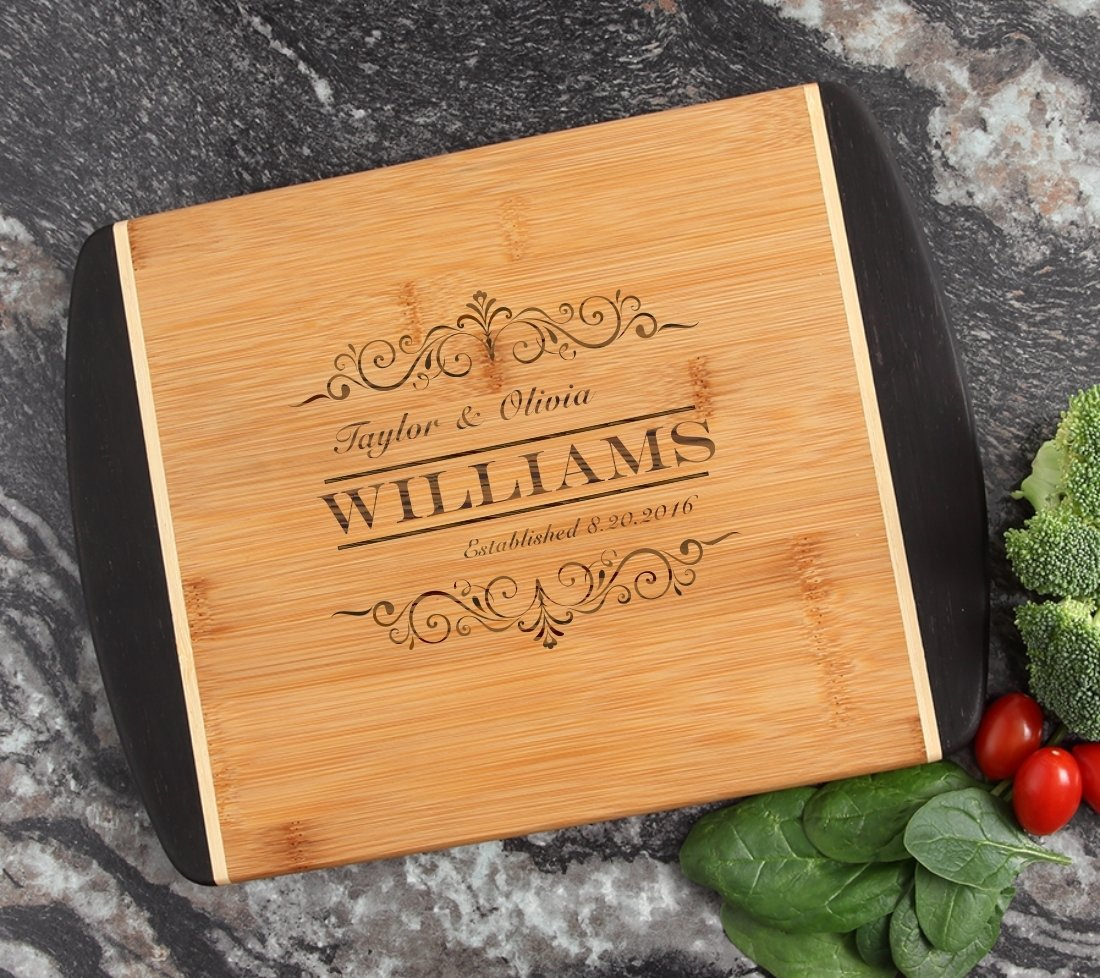 Cutting Board Engraved Personalized Bamboo 12 x 9 DESIGN 34 CBI-034
