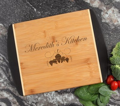 Cutting Board Engraved Personalized Bamboo 12 x 9 DESIGN 40