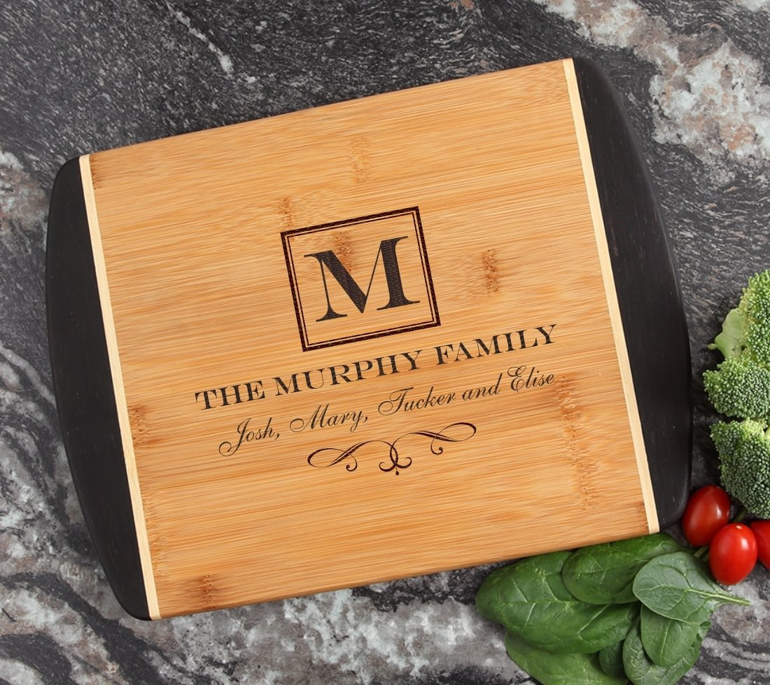 Cutting Board Engraved Personalized Bamboo 12 x 9 DESIGN 41 CBI-041