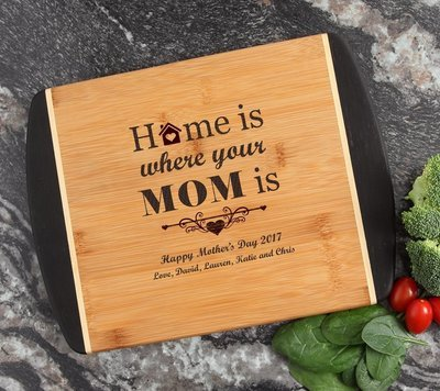 Cutting Board Engraved Personalized Bamboo 12 x 9 DESIGN 42