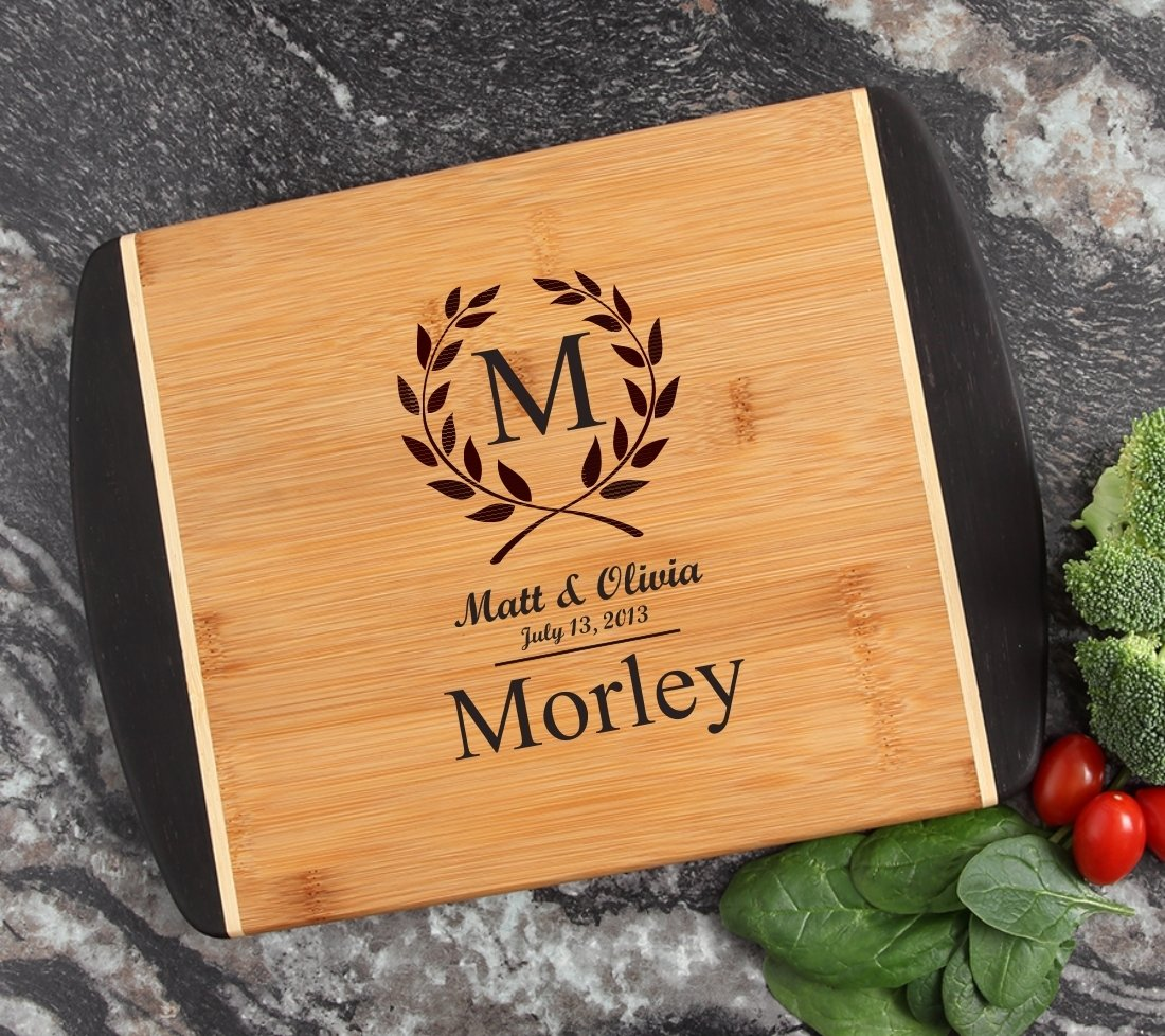 Cutting Board Engraved Personalized Bamboo 12 x 9 DESIGN 6 CBI-006