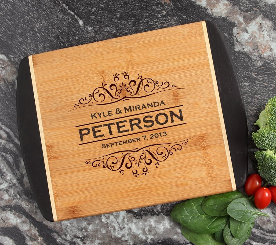 Cutting Board Engraved Personalized Bamboo 12 x 9 DESIGN 7 CBI-007