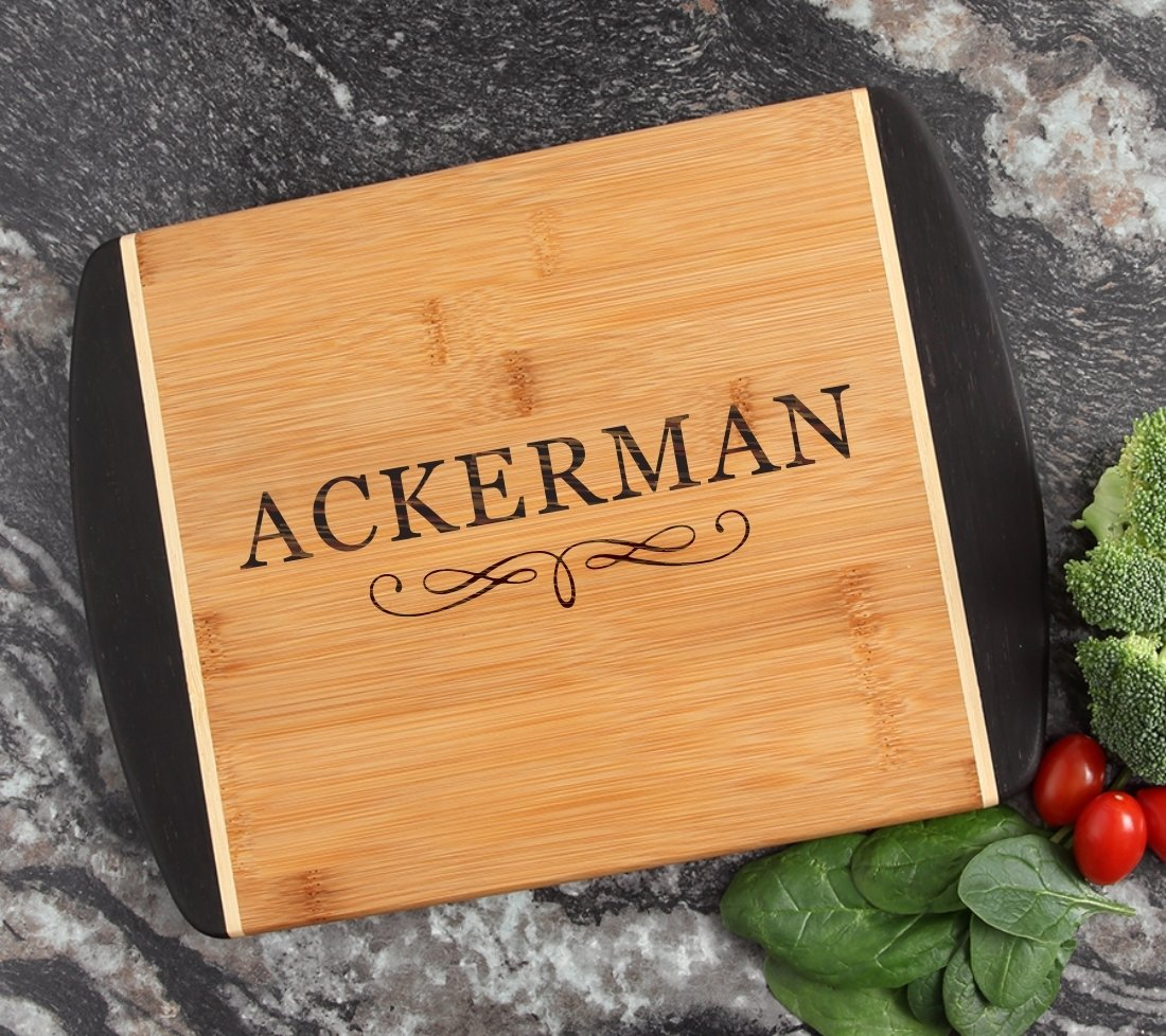 Cutting Board Engraved Personalized Bamboo 12 x 9 DESIGN 8 CBI-008