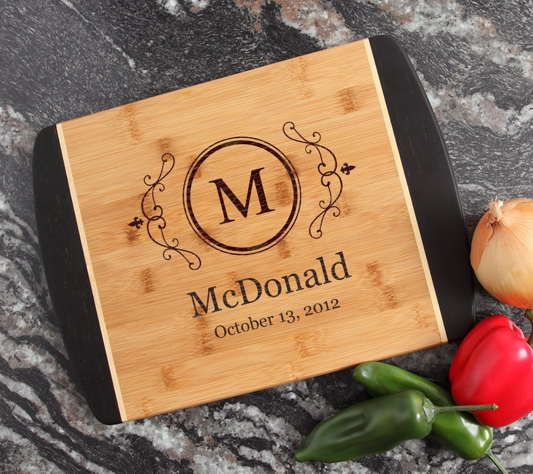 Engraved Cutting Board Personalized Bamboo 15 x 11 DESIGN 10 CBJ-010