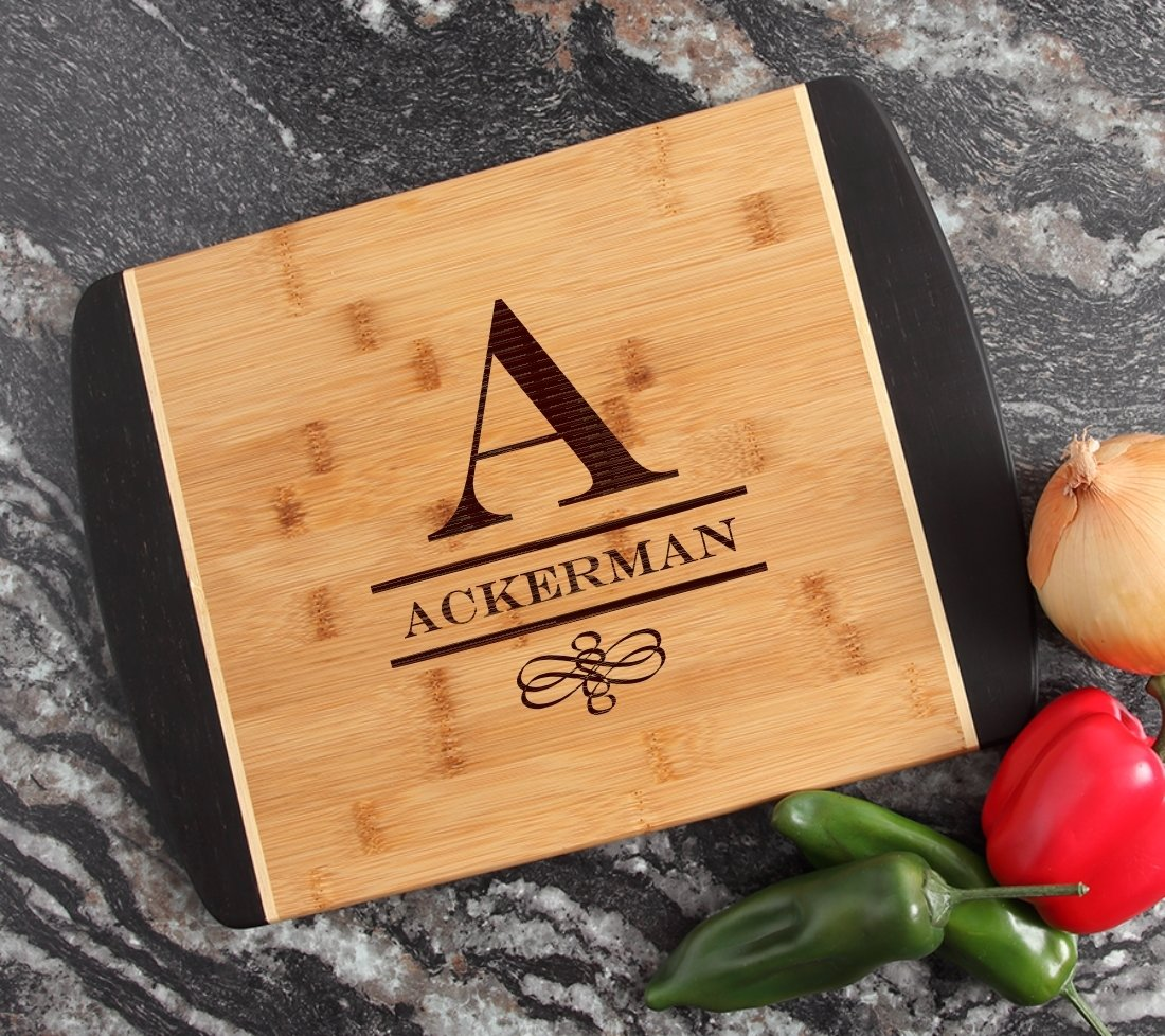 Engraved Cutting Board Personalized Bamboo 15 x 11 DESIGN 12 CBJ-012