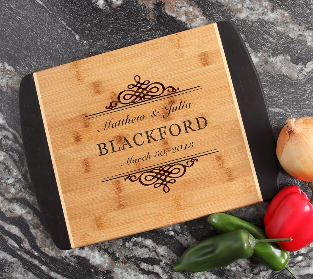Engraved Cutting Board Personalized Bamboo 15 x 11 DESIGN 14 CBJ-014