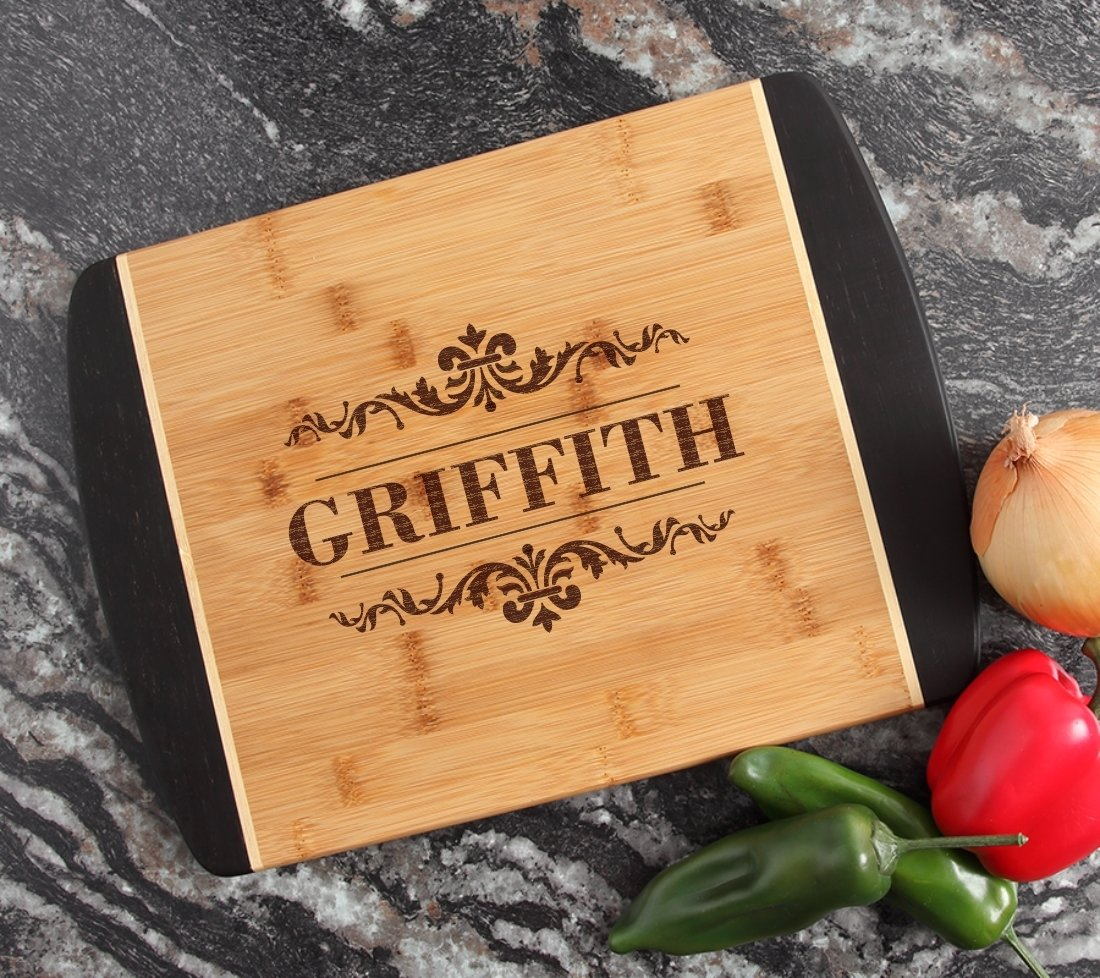 Engraved Cutting Board Personalized Bamboo 15 x 11 DESIGN 16