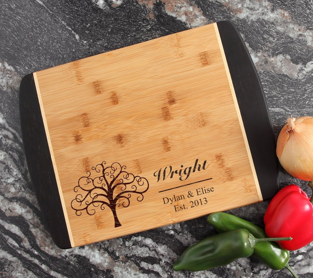 Engraved Cutting Board Personalized Bamboo 15 x 11 DESIGN 18 CBJ-018