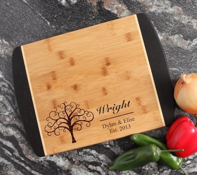 Engraved Cutting Board Personalized Bamboo 15 x 11 DESIGN 18